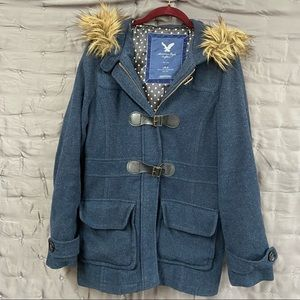 American Eagle Outfitters winter coat, 63% wool